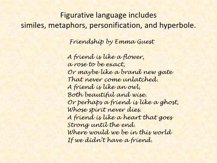 Teaching Poems with Figurative Language: List of Five Poems with Teaching Ideas