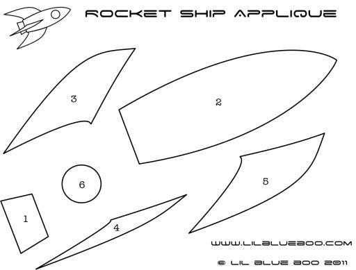 Rocket Ship Applique Tutorial And Template
