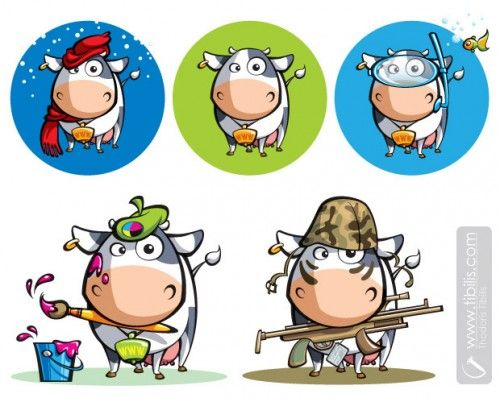Cartoon Character Design Tool : Best images about cow on pinterest cartoon horns