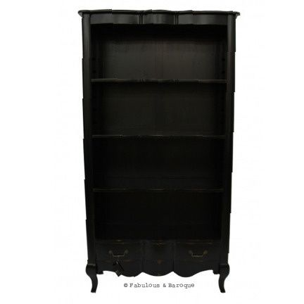 French Provincial Bookshelves Rustic Country Bookcase Black Www Fabulousandbaroque