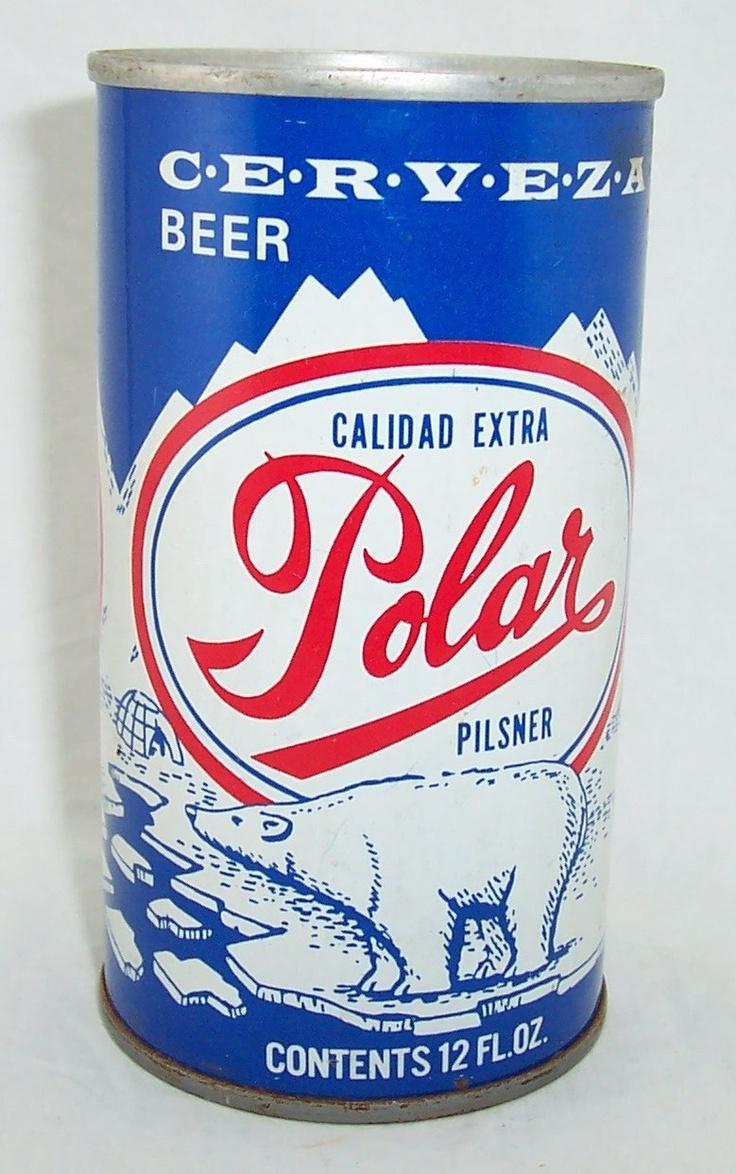asi eran las primeras latas de Cerveza Polar Venezuela.