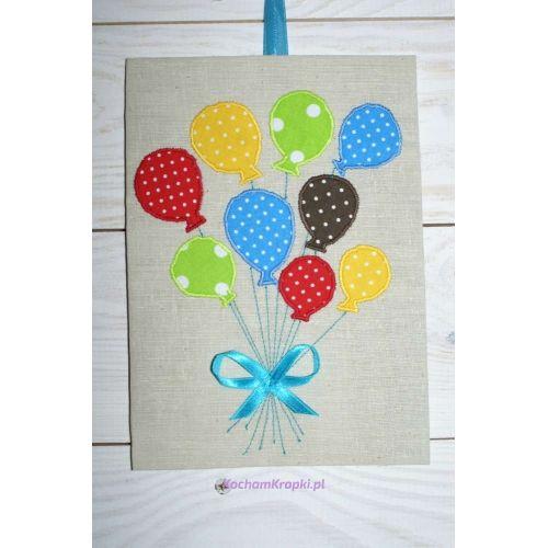 kartka urodzinowa balony-kochamkropki.pl-na zamówienie