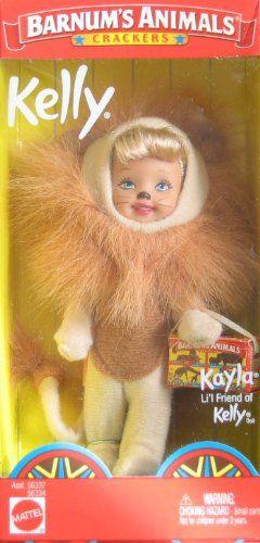 Barbie Kelly Barnum's Animals Crackers KAYLA Doll LION (2002). Barbie. Kelly Doll. Barnum's Animals Crackers. KAYLA Doll LION (2002).