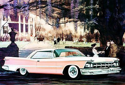 1959 Chrysler Imperial Crown two-door Southampton Promotional Advertising Poster