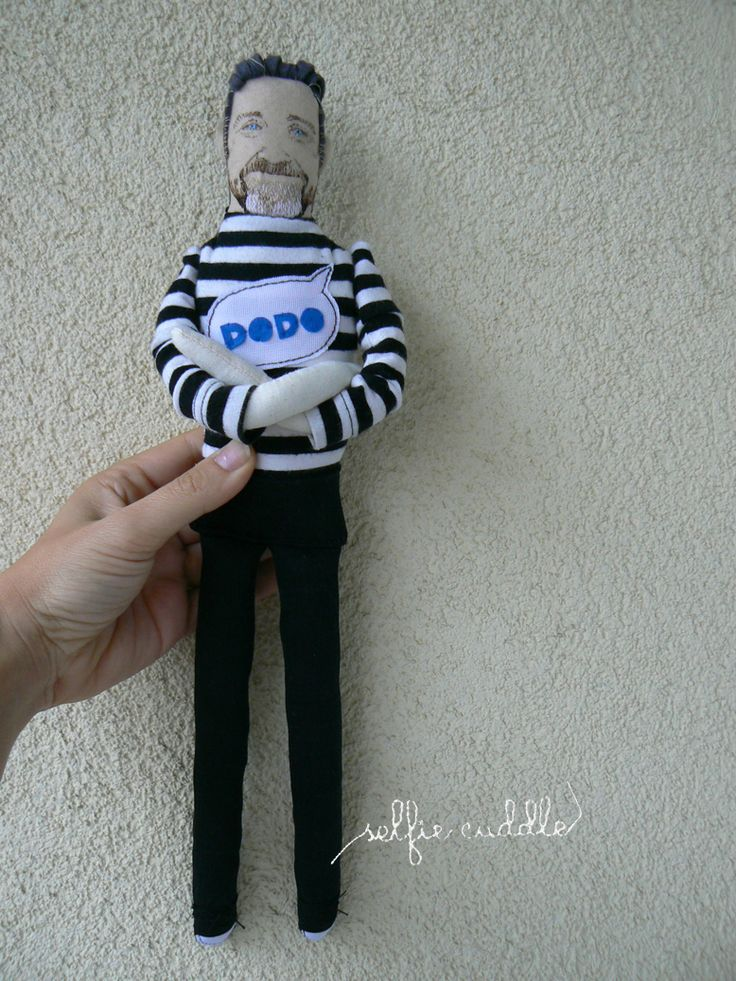 fabric handmade doll, portrait, man, portrait doll
