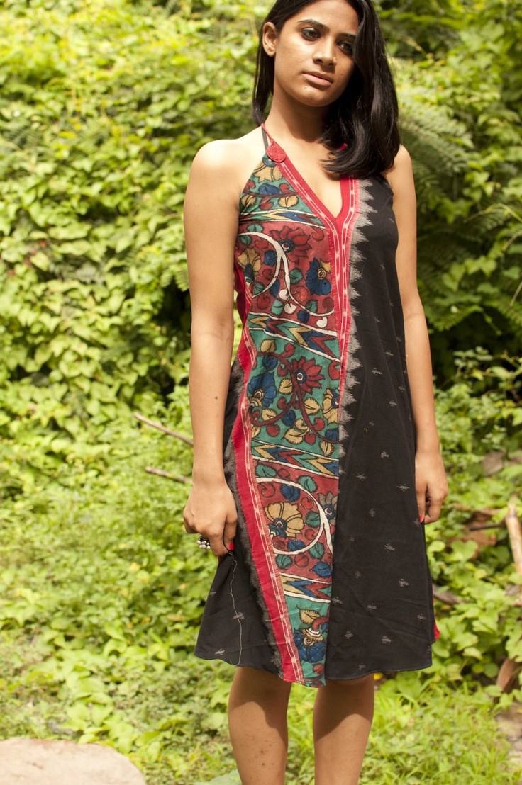 ikat with handpainted border dressfrom crow ORDER NOW  www.facebook.com/CROW4YOU