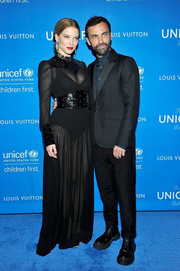 La 6e edition du gala de l'UNICEF a Beverly Hills soutenu par Louis Vuitton Lea Seydoux et Nicolas Ghesquiere