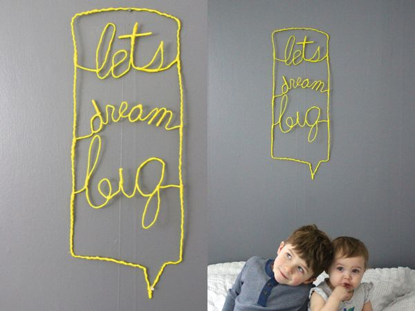 diy wire #typography sign