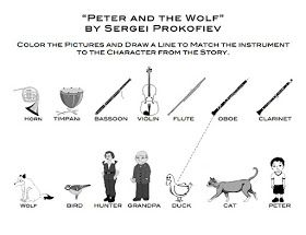 21 best music education images on pinterest music education free printable learn me music peter and the wolf matching and coloring page fandeluxe Choice Image