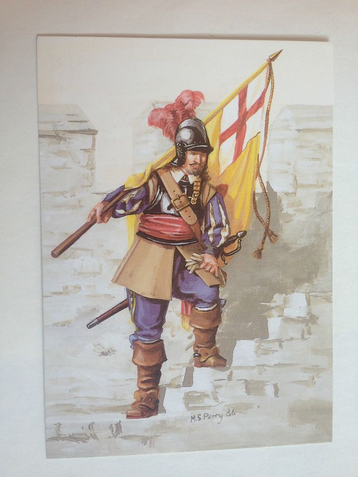 ENGLISH CIVIL WAR SERIES ROYALIST ENSIGN LEWIS DYRE'S REGIMENT REGIMENT POSTCARD | eBay