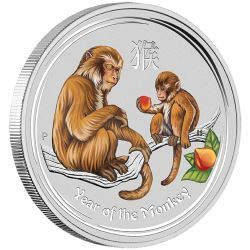 As someone born in the Year of the Monkey, you're likely to be intelligent, quick-witted, optimistic, ambitious, and adventurous | Australian Lunar Silver Coin Series II 2016 Year of the Monkey 1 Kilo Silver Gemstone Edition