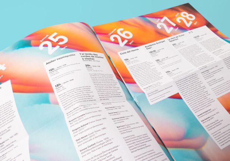 Festival Archipel 2017 | WePlayDesign | Visual identity for the Festival Archipel, Geneva (2017) #weplaydesign #festivalarchipel #visualidentity #geneva #graphicdesign #contemporarymusic #festival #program #editorial #editorialdesign #communication #swissdesignstudio #swissdesign #sophierubin #cedricrossel