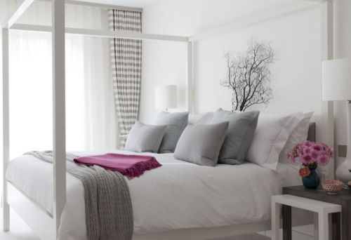 Grey and white sweet bedroom