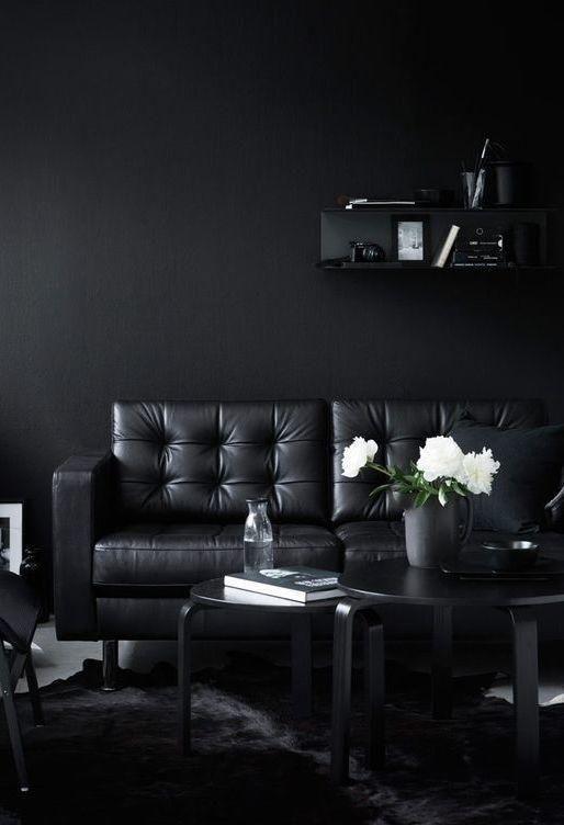 Schwarzes Sofa: 50 Modelle mit Fotos und wie dekorieren | Dekoration ...