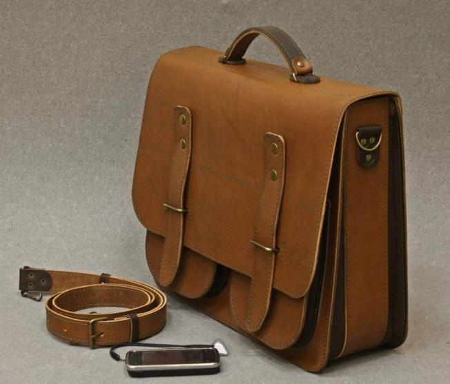 Мужской портфель из кожи своими руками