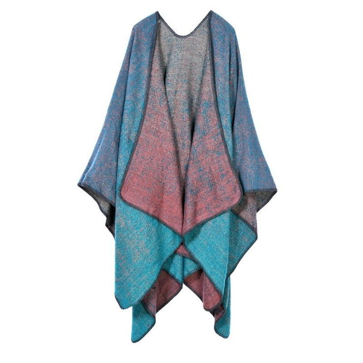 Winter Vintage Azure Women Bohemian Mexican Ponchos Acrylic Ladies Boho Cardigan #Unbranded #Cardigan #Casual