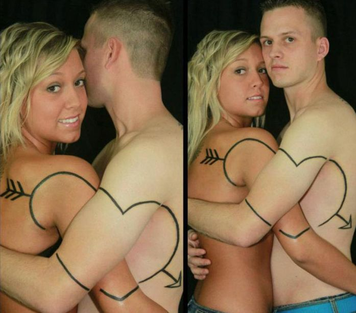 Bilderesultat for funny couple tattoo