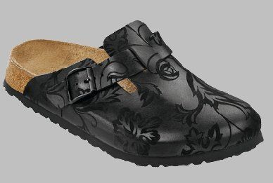 Papillio Boston Womens Clogs Soft Footbed Suede Leather, Silk Flowers Mocca, With A Regular Insole Papillio. $79.65