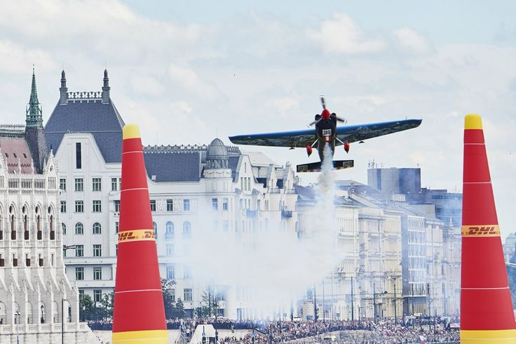 Petr Kopfstein of the Czech Republic performs during race day at the fourth round of the Red Bull Air Race World Championship in Budapest, Hungary on July 2, 2017. // Armin Walcher / Red Bull Content Pool // P-20170702-01402 // Usage for editorial use only // Please go to www.redbullcontentpool.com for further information. //