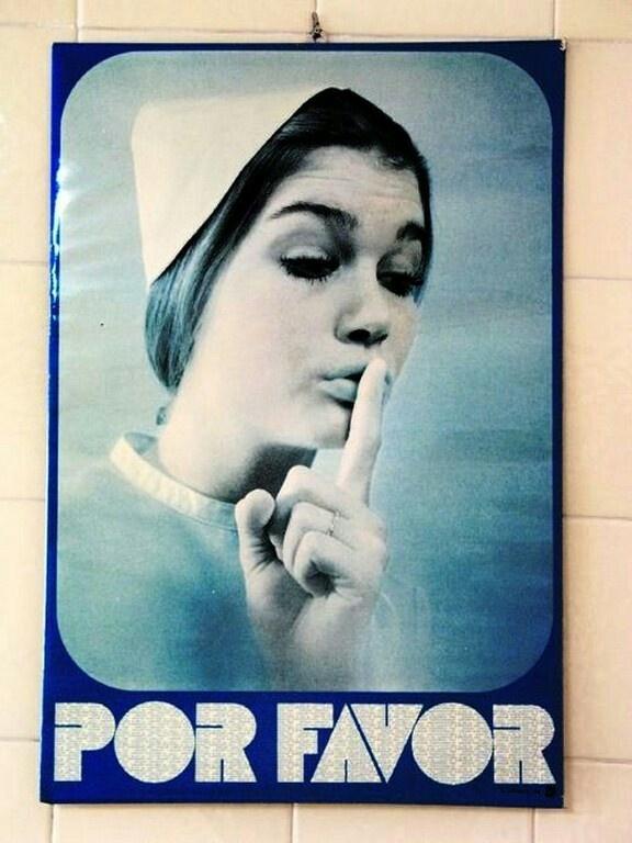 Esta foto, antiguamente estaba colgada en todos los centros de salud de España
