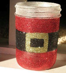 32 last minute Christmas crafts. You'll want to check these out before December 25th!  #DIY #gifts, decorations and more!: Crafts Ideas, Christmas Crafts, Crafts Gifts, Diy Gifts, Christmascrafts, Mason Jars, Last Minute, Santa Jars, Christmas Gifts