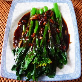 Chinese vegetarian recipe with yuchoy