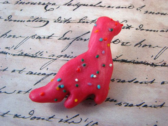 Loch Ness Monster Sprinkle Cookie Brooch Circus by Outpost8, $12.00