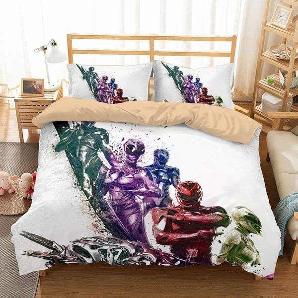 3d Customize Power Rangers Bedding Set Duvet Cover Set Bedroom Set