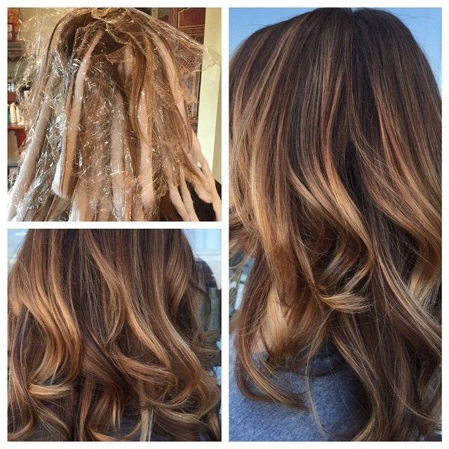 balayage technique�aveda hair color with blonde finish