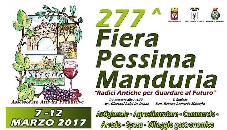 La 277^ Fiera Pessima di Manduria è iniziata il 7 marzo alle ore 16.00 e finirà il 12 marzo 2017. Le origini risalgono tra il XIV …