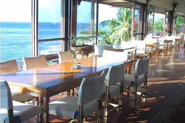 Eagle's Nest Restaurant panaromic ocean view.