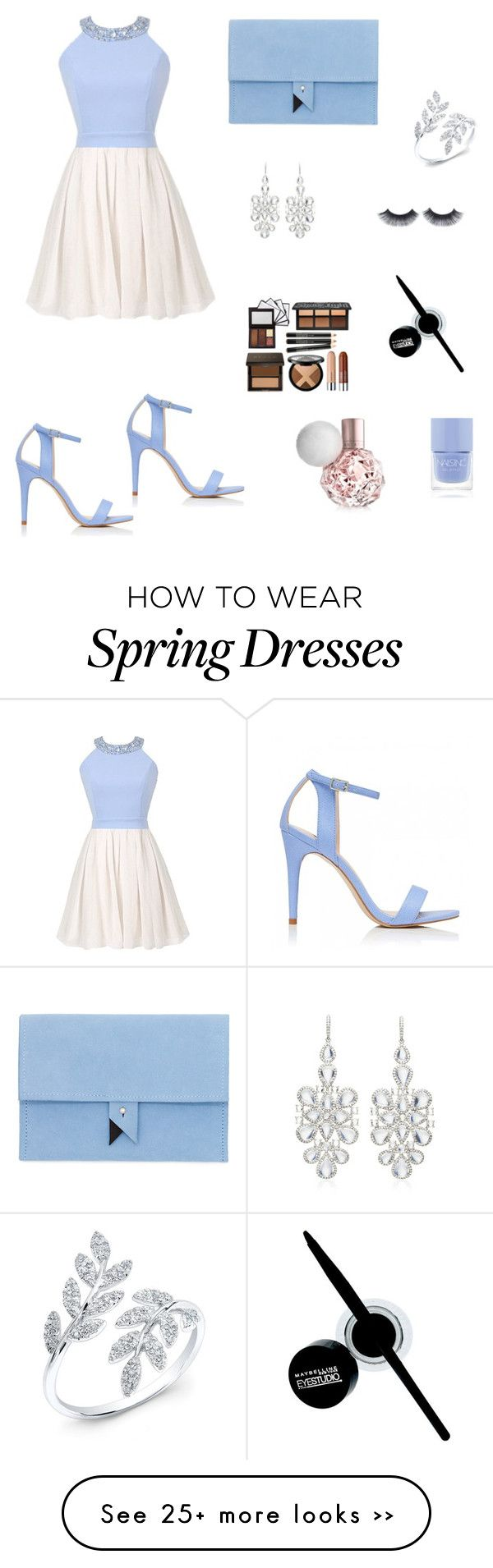 """""""Untitled #1303"""" by niqu2693 on Polyvore featuring Forever New, Dora, NSR Nina Runsdorf, Maybelline and Nails Inc."""