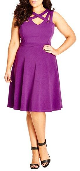 Plus Size Strappy Skater Dress
