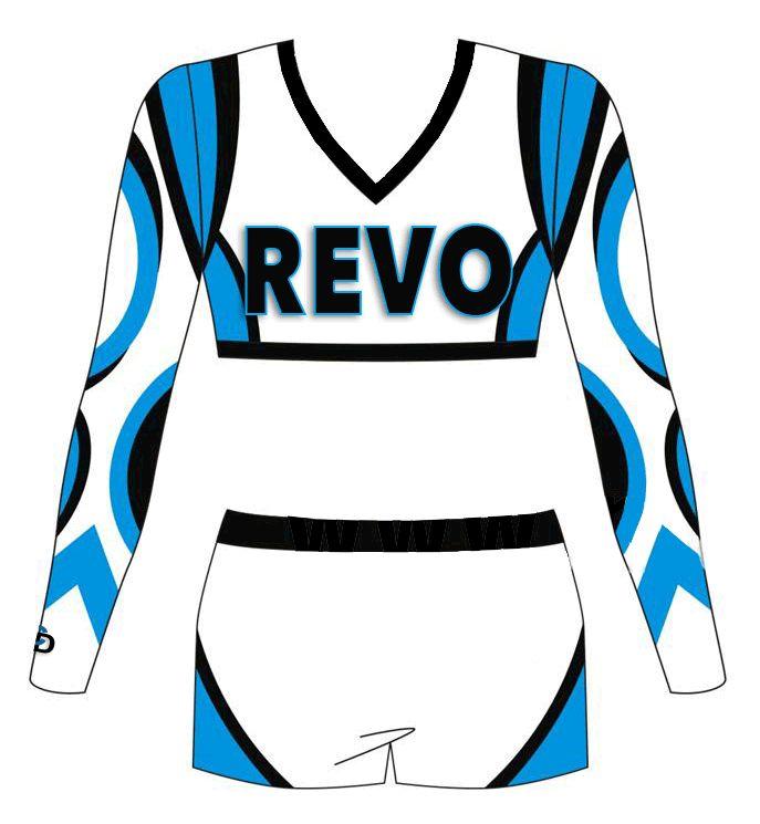 Custom Sublimated Cheerleading Uniform- Crop and Shorts Set. Matching Practice wear, Warm-up & Men/Boys Design. www.CheerDeals.com