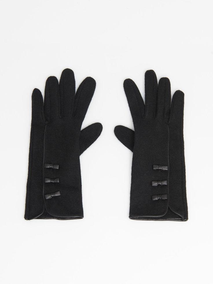 Wełniane rękawiczki do ekranów dotykowych, Nowości, szary, MOHITO