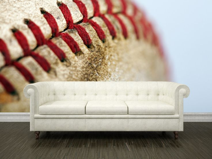 Baseball Stitch Wall Mural