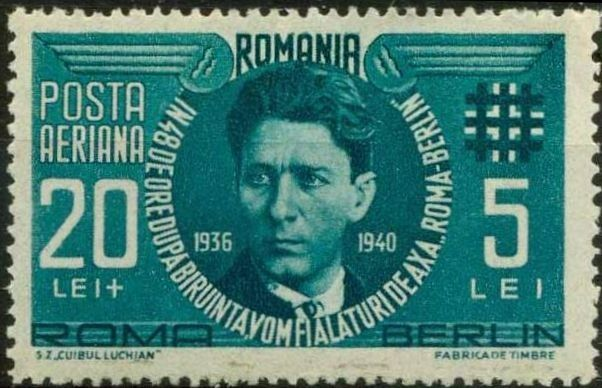 Stamp: Corneliu Codreanu. (Romania) (Corneliu Codreanu.) Mi:RO 681,Sn:RO CB1