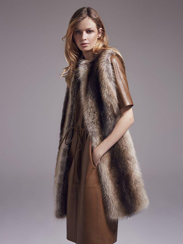 Yves Salomon Femme FW 17/18. Womens fur vest / Veste de fourrure pour femme