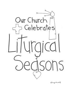 Help your little ones learn about the Church's liturgical seasons with this booklet.  Includes an activity page for the Seasons of Advent, Christmas, Ordinary Time, Lent, and Easter, along with a page for students to color the priest's vestment for each season.