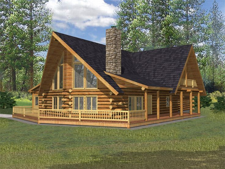 61 best Log House Plans images on Pinterest | Log cabin homes, Log ...