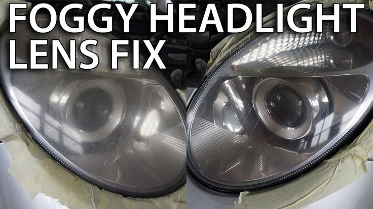 Polishing foggy headlight lens (how to fix mist lamp, restoring, #Mercedes #W211) #cars
