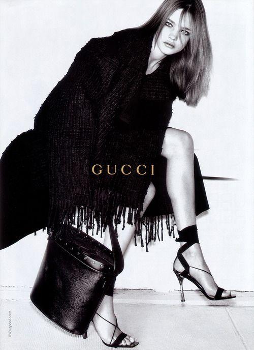 Natalia Vodianova. Gucci, F/W 2002/03 advertising campaign.  Photo: Mario Testino.