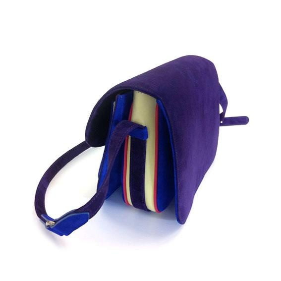 suede multicolour shoulderbag @ bottegapb1.com