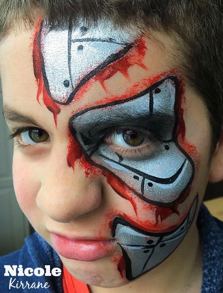 Cyborg Face Paint Face Painting Easy Superhero Face Painting Face Painting Halloween