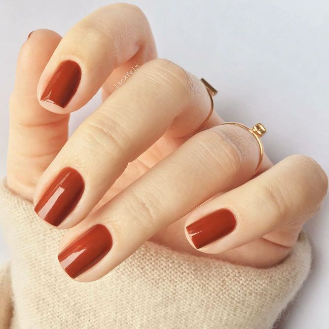 Gorgeous Autumn Inspired Nails: Trendy Manicures In Fall Nails Colors 2018 Inspired By