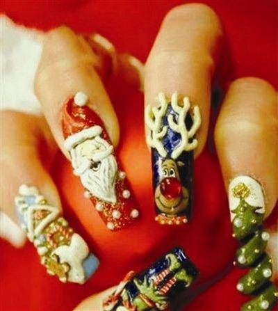Christmas Nails Look At That Crazy Tree Spiral Nail