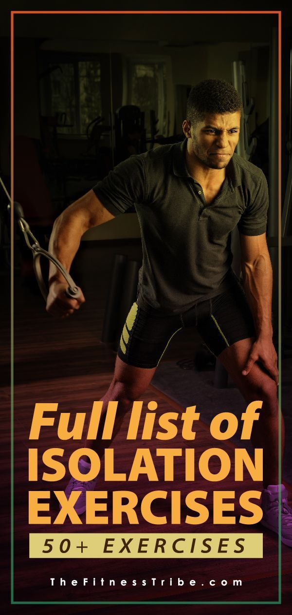 List Of Isolation Exercises By Muscle Group Fitness Training Exercise Workout For Beginners