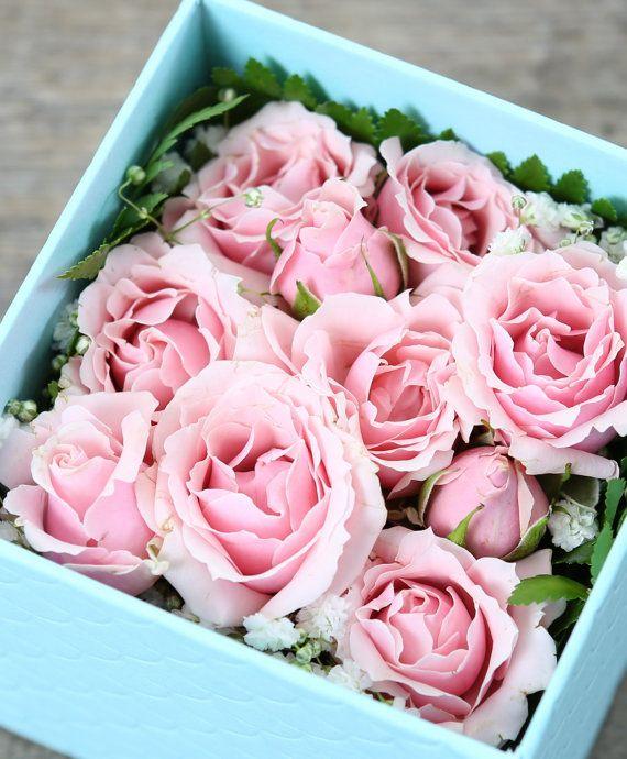 Gift Box Flowers  Floral Arrangement  Fresh by DelectableFloral