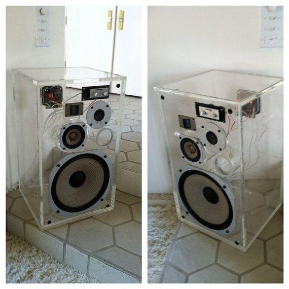 Very Very Rare Pioneer HPM 100 speakers in Lucite by gleetz, $1800.00