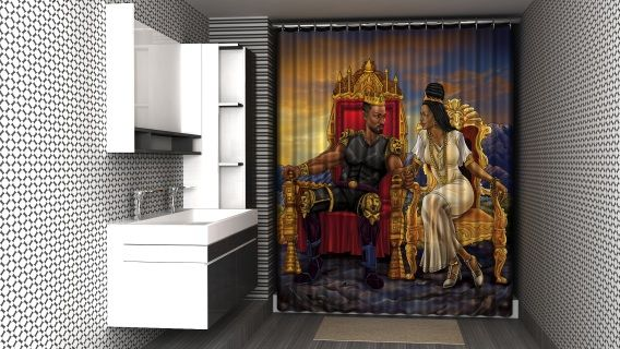 Royal And In Love Afrocentric Shower Curtain Cool Shower